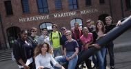 Students_on_the_social_program_outside_the_maritime_museum